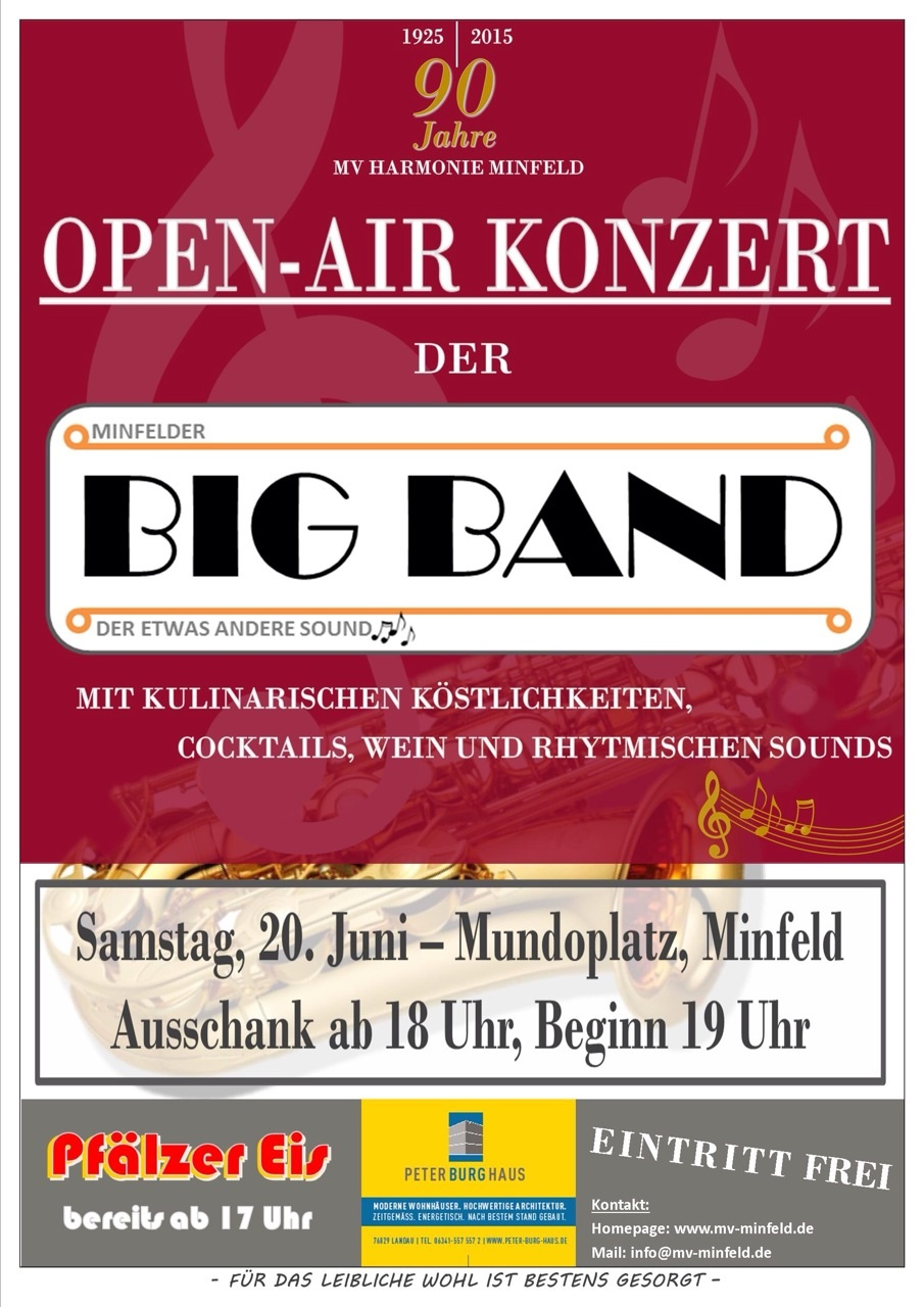 Open Air Knzert der Big Band